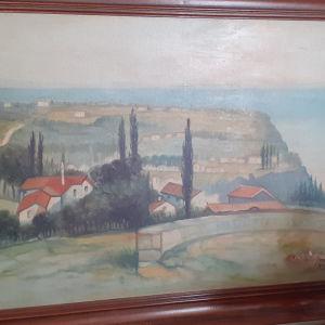 Πίνακας του γνωστού Κρητικού ζωγράφου Αλιγιζάκη.