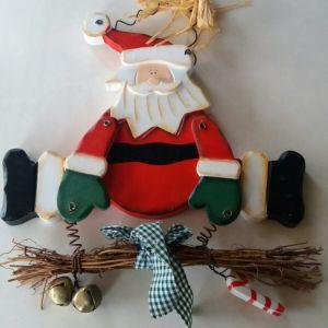 Ξύλινο χριστουγεννιάτικο κρεμαστό διακοσμητικό
