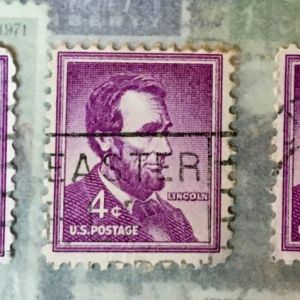 3 -  Abraham Lincoln 4C  Γραμματόσημα ΗΠΑ