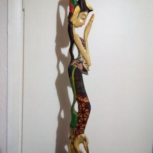 Ταϊλανδέζικο, χειροποίητο, ξυλόγλυπτο αγαλματίδιο, 56cm.