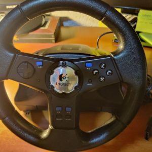 Τιμονιέρα Logitech Rally Vibration Feedback Wheel για PS2