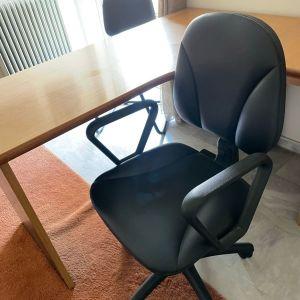 Καρέκλα Εργασίας Line δερματινη, χωρις φθορες.