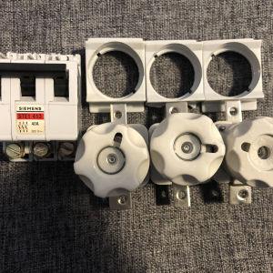 Ραγοδιακόπτης 3x40A Siemens , 3 βάσεις ασφαλειών 63A , 3 ασφάλειες 35Α