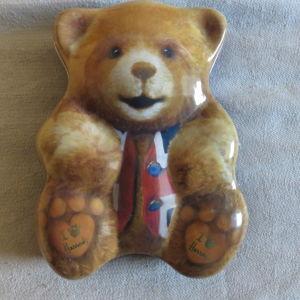Τσιγκινο κουτι αρκουδακι απο τα Harrods