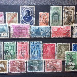 Lot διαφορετικων γραμματοσημων Πορτογαλιας απο το 1910.