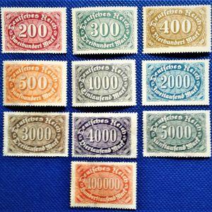 Γραμματόσημα. GERMANY 1922-1923 Ασφράγιστα