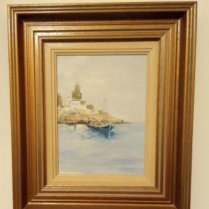Πίνακας ζωγραφικής με βάρκα